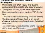 the internet changes pricing strategies