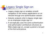 legacy single sign on