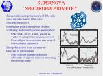 supernova spectropolarimetry