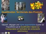 qualification territoriale des produits
