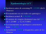 epidemiolog a lcc