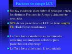 factores de riesgo lcc