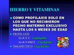 hierro y vitaminas