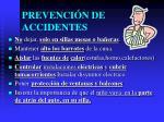 prevenci n de accidentes