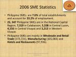 2006 sme statistics