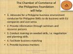 the chamber of commerce of the philippines foundation will help