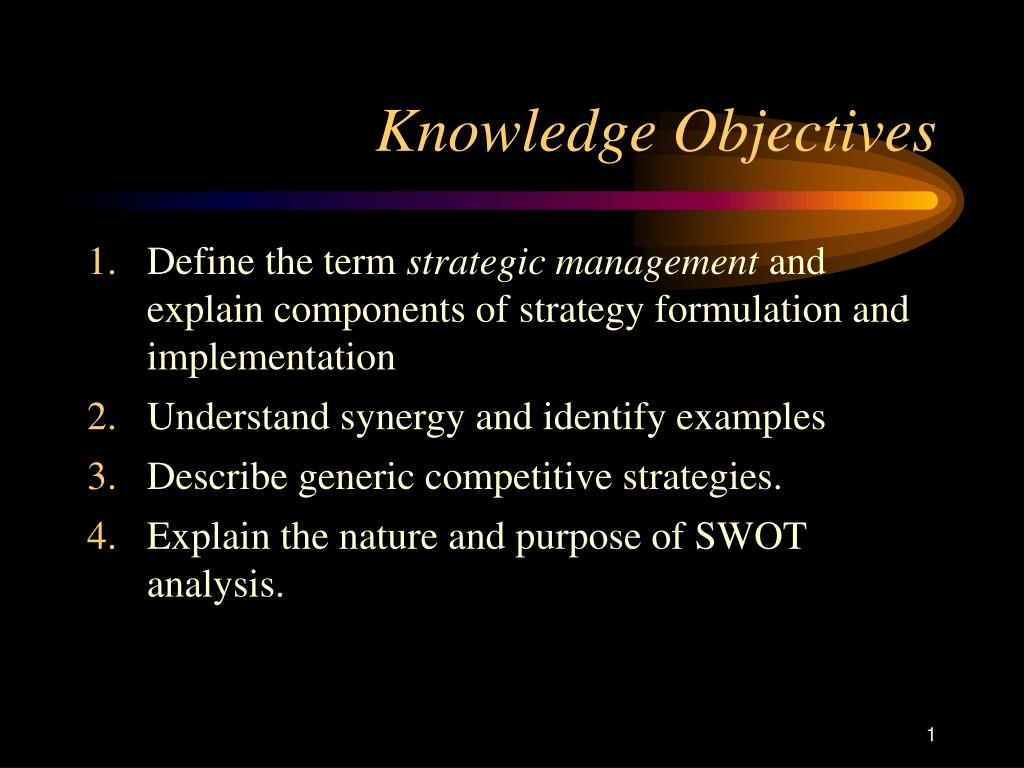 knowledge objectives l.