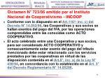 dictamen n 723 06 emitido por el instituto nacional de cooperativismo incoop