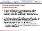 las cooperativas como contribuyentes