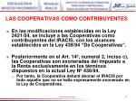las cooperativas como contribuyentes74