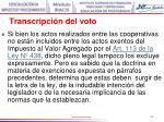 transcripci n del voto