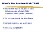 what s the problem with t m