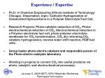 experience expertise