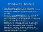 introduction scenario