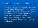 introduction systolic definition 2