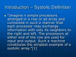 introduction systolic definition