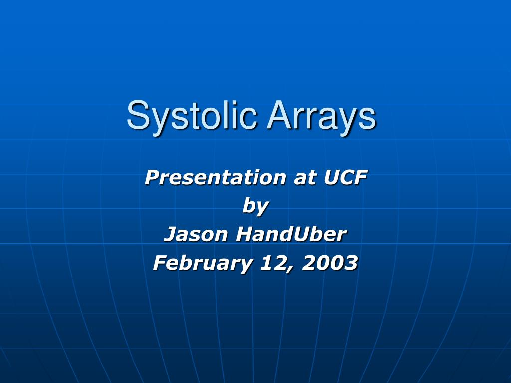 systolic arrays l.