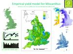 empirical yield model for miscanthus richter g m et al 2008 soil use and management 24 3 235