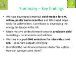 summary key findings