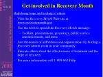 get involved in recovery month
