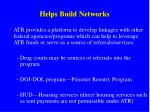 helps build networks