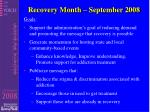 recovery month september 2008