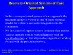 recovery oriented systems of care approach