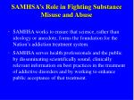 samhsa s role in fighting substance misuse and abuse
