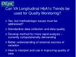 can va longitudinal hba1c trends be used for quality monitoring