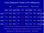 cross sectional trends in a1c measures68