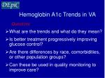 hemoglobin a1c trends in va