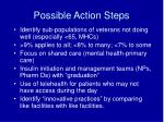 possible action steps