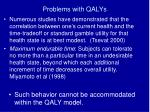 problems with qalys