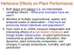 herbivore effects on plant performance