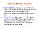 two articles for review