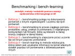 benchmarking i bench learning