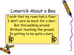 limerick about a bee