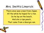 mrs smith s limerick