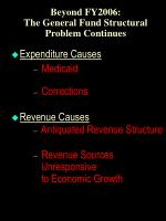 beyond fy2006 the general fund structural problem continues