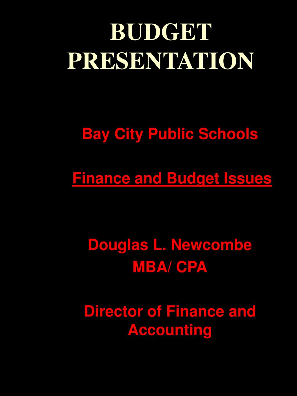 budget presentation l.