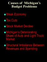 causes of michigan s budget problems