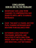 conclusions how do we fix the problem