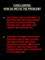 conclusions how do we fix the problem60