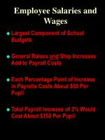 employee salaries and wages