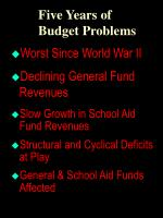 five years of budget problems