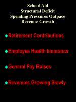 school aid structural deficit spending pressures outpace revenue growth