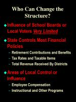who can change the structure