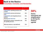 back to the basics consolidate centralize and standardize