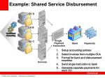 example shared service disbursement
