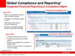 global compliance and reporting integrated financial reporting compliance mgmt